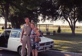 New Mexico   -   Hobbs   -   John & my mother at a picnic stop   -   July 1972