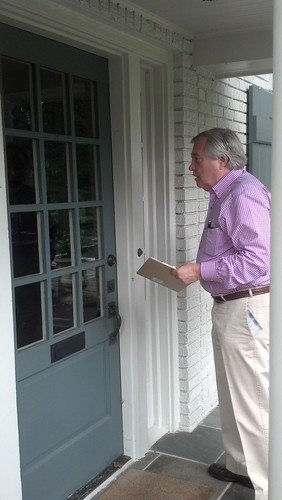 SCDP Chair Knocking on Doors in NC