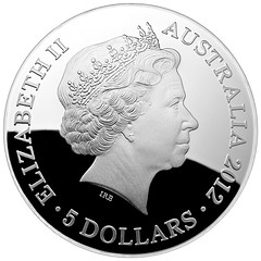 Royal Australian Mint Curved Coin obverse