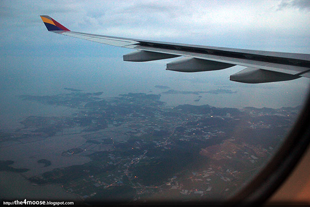 OZ 752 - Approaching Incheon Airport