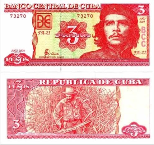 3 Pesos Kuba 2004, Che Guevara, Pick 127