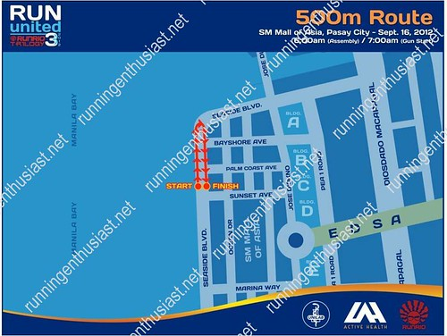 run united 3 500m route map