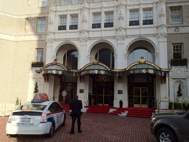 The entrance to the Mark Hopkins Intercontinental