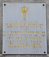 Photo of Christian VII white plaque