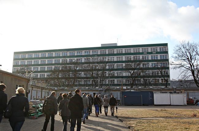 Hohenschönhausen Prison walking away