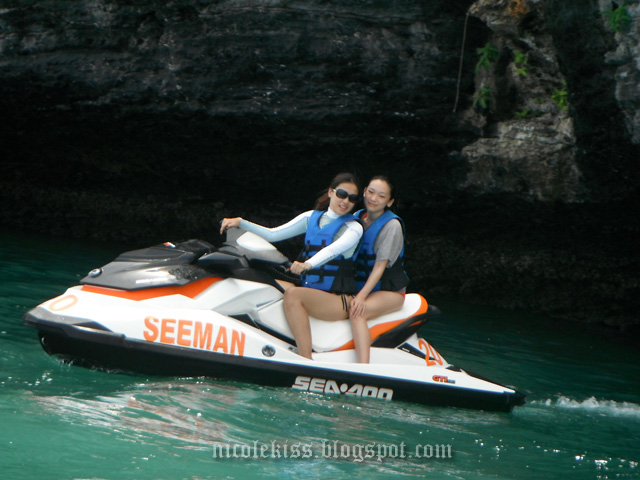 amanda and i on langkawi jetski