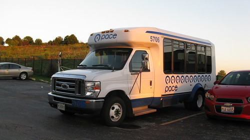 First Transit 2009 Ford small paratransit bus # 5706.  Glenview Illinois. August 2012. by Eddie from Chicago