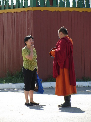 talking it over with the monk