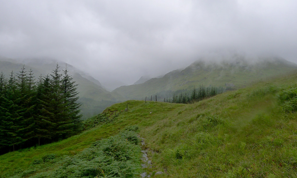 Mist over the Glen Dessary Hills