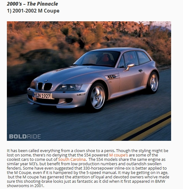 """Bmw Z Forum: Boldride's """"Best M Cars Of The Past 40 Years"""""""