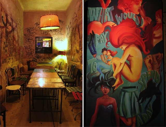 Szimpla Kert room and art