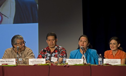 The Looking Forward panel explored what the future holds for indigenous people and the rest of the world as we all adapt to climate change. Photo credit: Debbie Preston, Northwest Indian Fisheries Commission.