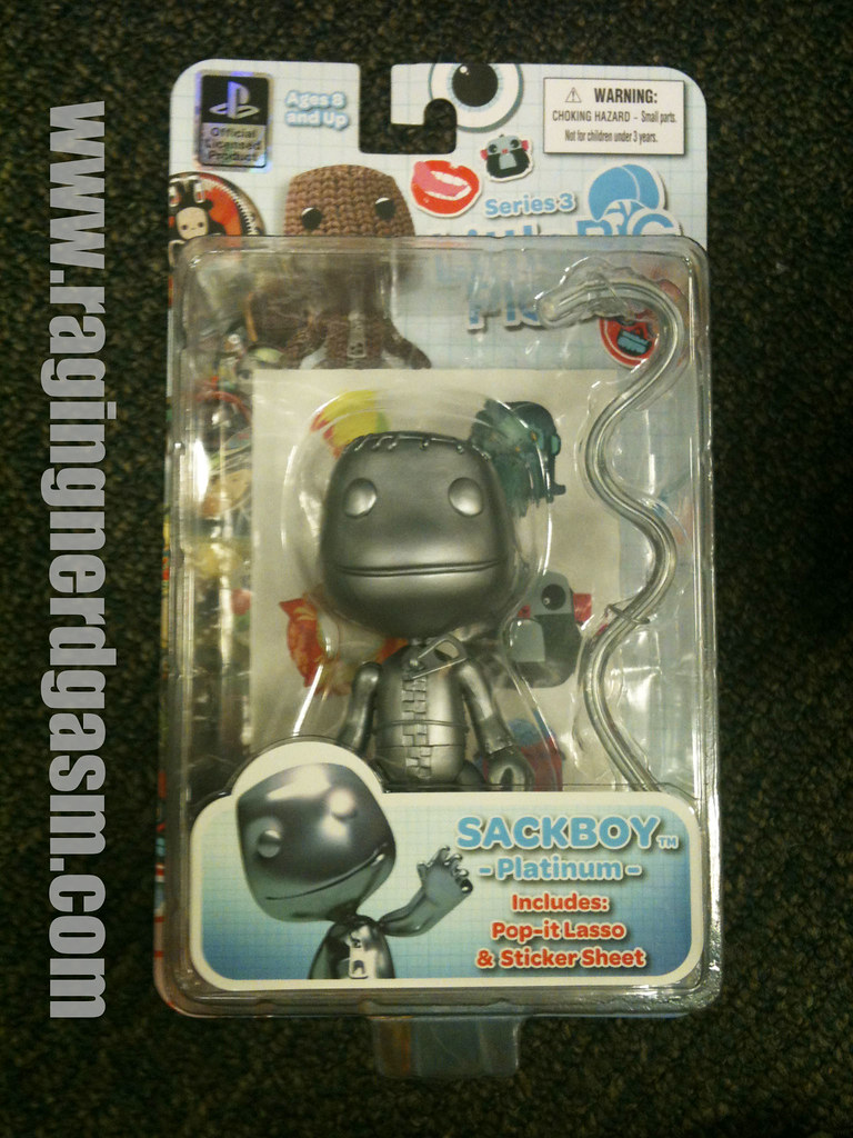 Mezco Playstation Little Big Planet Action Figures Sackboy Platinum006
