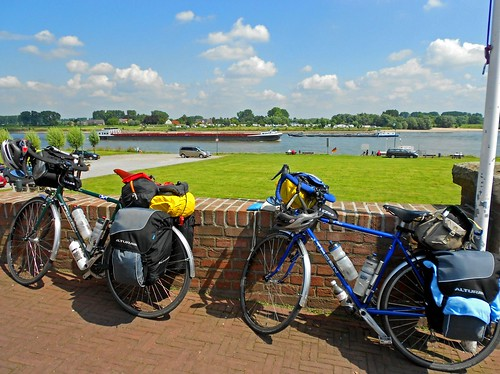 Touring Bicycles and Rhine River