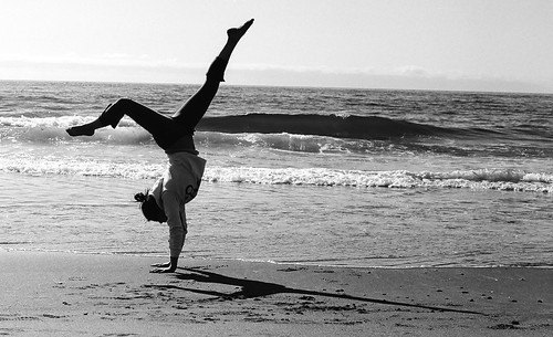 Beach Gymnastics Tumblr Gymnastics on The Beach