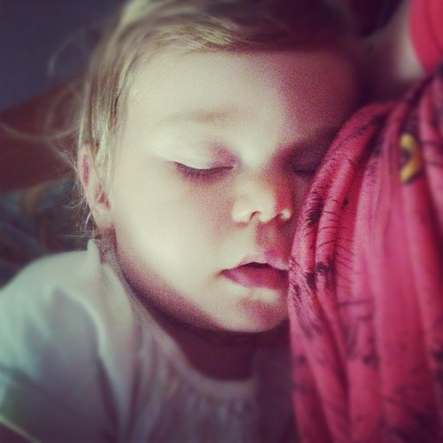 I love when she falls asleep on me... Rare for this 20-month-old.  Where has my baby gone?