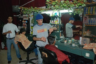 Gaza barber shop