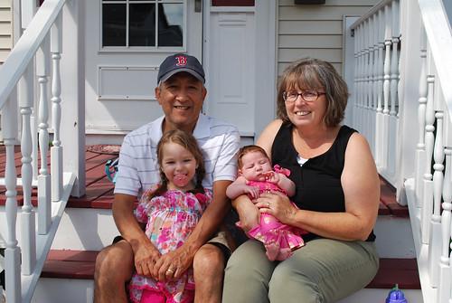 Grandma, Grandpa, Savannah, and Caroline
