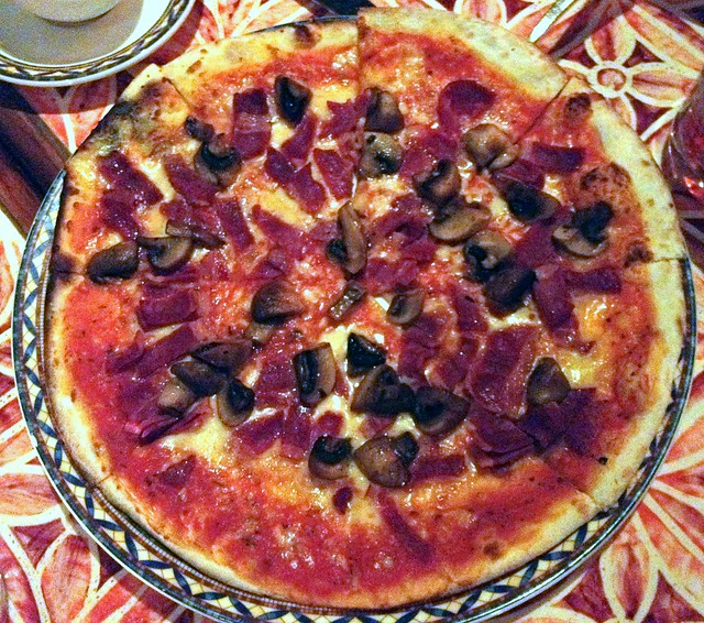 Beef and Bacon Pizze
