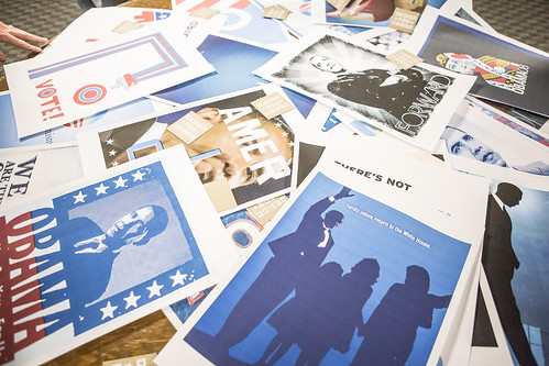 Design for Obama crowd-sourced original campaign artwork online and produced beautiful screen-printed posters of some of the best designs.