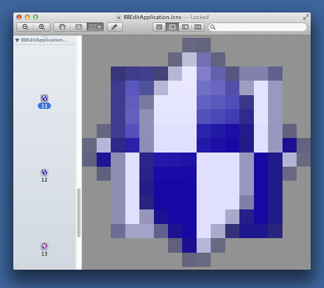 Small BBEdit icon in Preview