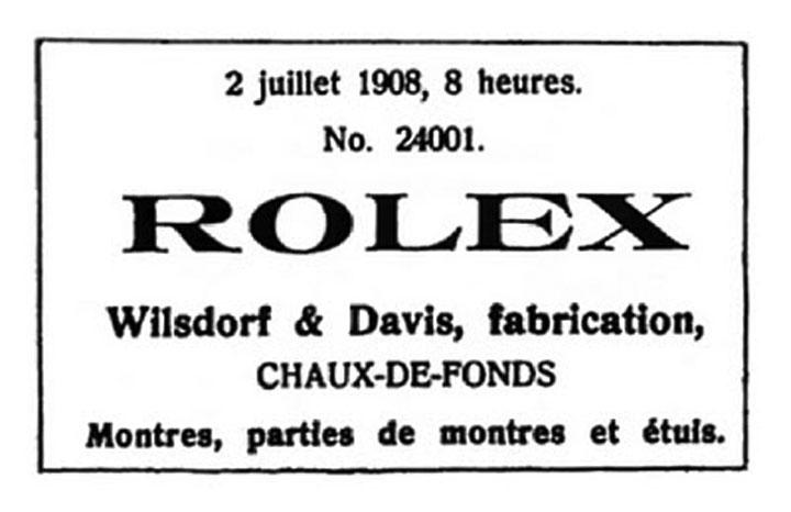 Rolex Registration #1908