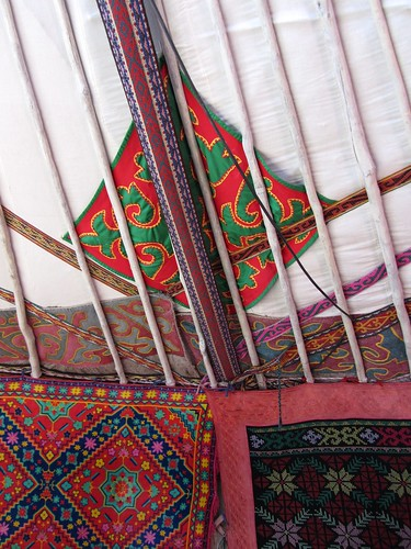 kazakh ger walls