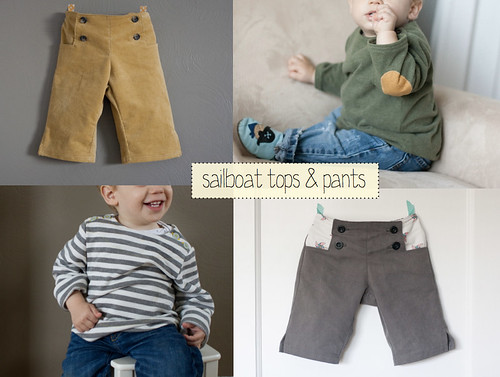 sailboat pants and tops