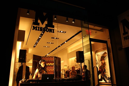 Missoni Store has private part with DJ Kissette