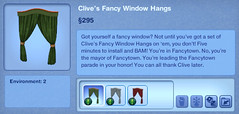 Clive's Fancy Window Hangs