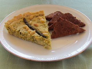 Asparagus Quiche-Me-Not; Tempeh Bacon Triangles