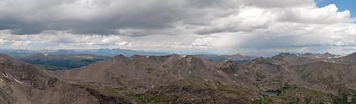 panorama mountains rockies colorado cloudy rockymountains fourteener 14er mtcameron