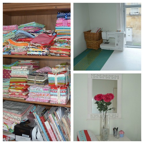 Sewing room collage