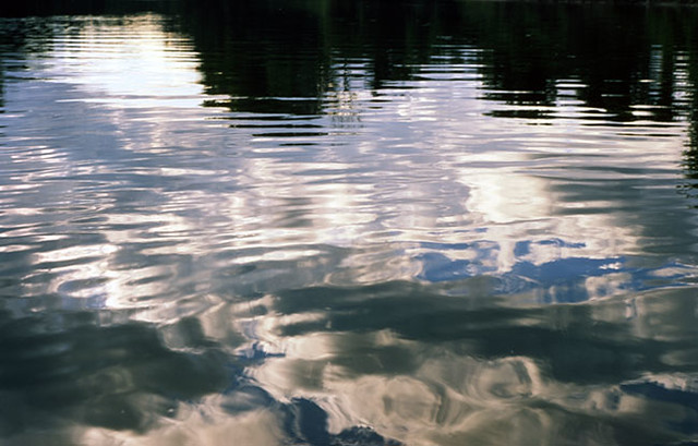 clouds in water