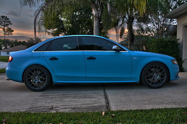 Plasti Dipped whole ca rBABY BLUE- 2011 Audi S4 - DipYourCar