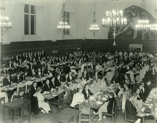 Interior view of Frary Hall and Prometheus in 1933