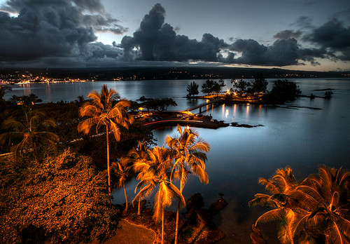 Hilo Harbor after Sunset