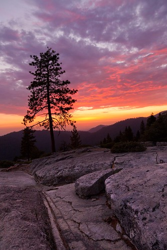 Beetle Rock Sunset #2, Sequoia National Park by flatworldsedge
