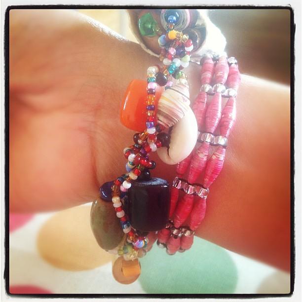 #present #bracelets #beads #kenya #Africa #ipad #instagrammers