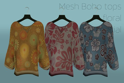 A:S:S - Boho mesh top, floral - for Lazy Sunday