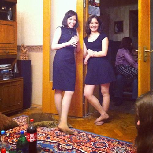 Ladies in black.