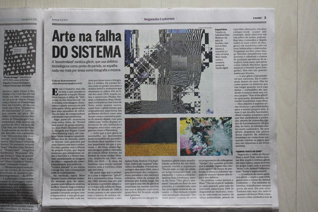 O GLOBO: Arte na falha do sistema