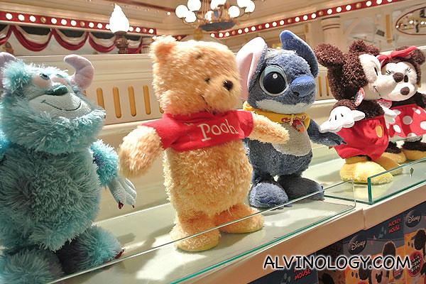 Dancing Disney toys