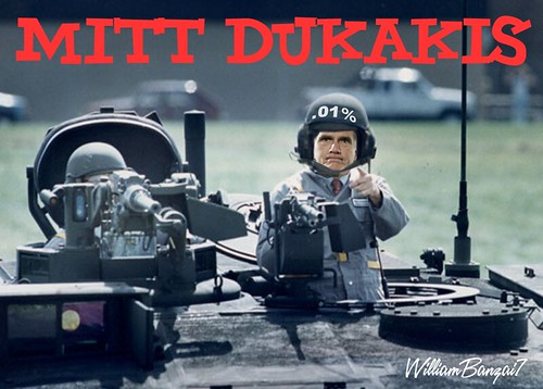 MITT DUKAKIS by Colonel Flick
