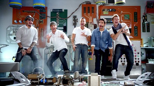 screen shot of the backstreet boys from the Old Navy ad