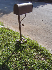 Brown mailbox