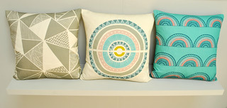 Sian Elin printed cushions