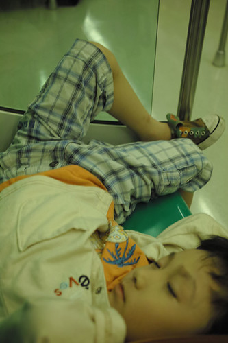 才上午在捷運車廂冷氣一吹車一搖就睡著了