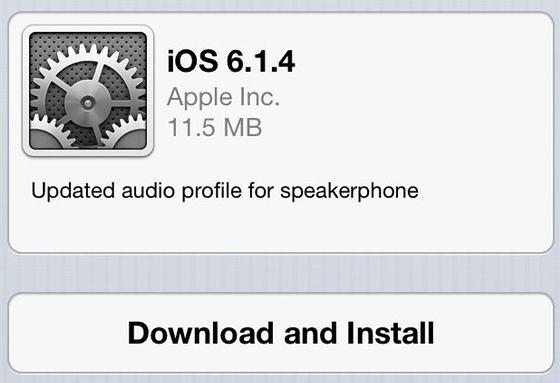 Обновление iOS 6.1.4
