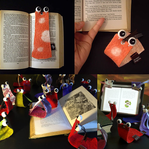 """Reading Mate"" felted bookmarks by Ako Lamble"